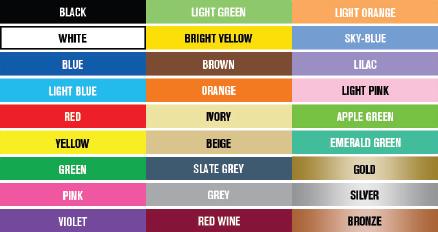 Lumiere Paint Colour Chart